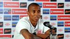 Ashley Young talks during a press conference, Andels Hotel, Krakow, Poland, June 9, 2012
